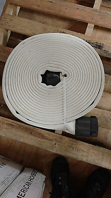 All American Ponn Supreme Fire Hose- 3in X 50 ft WHITE w/ 2.5 in NH Coupling