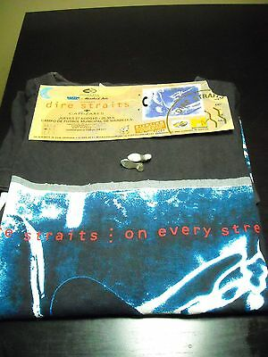 Dire Straits On Every Street Marbella 1992 Entrada Ticket + Camiseta + Pin