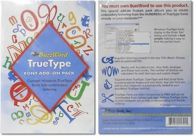 BuzzTools BuzzWord Modern Font Add-On Volume 1 Pack & True Type Font Add-On