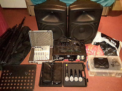 Proffesional Karaoke Set With Speakers, Amplifier, Mixer and Accessories (Bundle