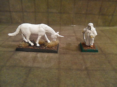 25mm / 28mm Primed Unicorn Type 2 Pathfinder DnD Roleplaying. Minees