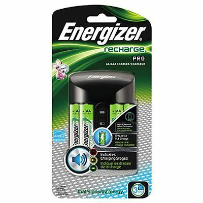 4 Pack Energizer AA/AAA Charger with 4 NiMH AA Cell Rechargeable Batteries Each