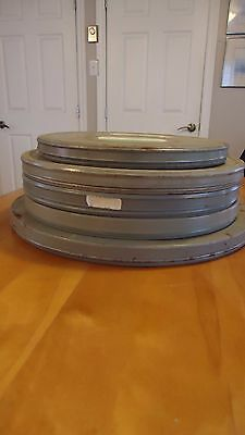 4 LARGE VINTAGE MOVIE REEL FILM TIN CAN CANISTER National Film Board Of Canada