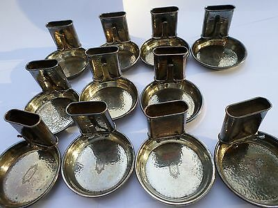 Webster Sterling Silver Match Holders Ashtray's Hammered Lot of 11 Gorgeous!