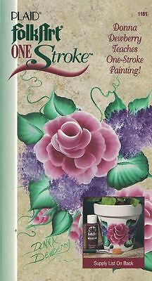 Donna Dewberry FolkArt One Stroke VHS #1181 Painting Made Easy