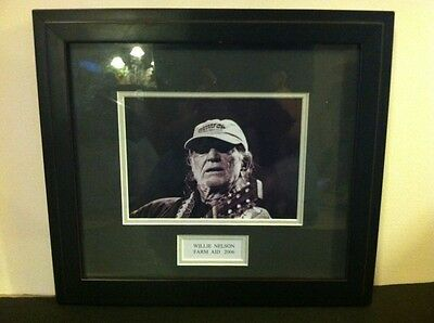 Willie Nelson 2006 Farm Aid Framed Matted Photo