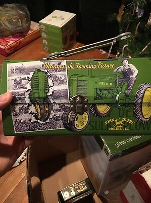 John Deere Storage Tin  Lunch Box Style Very Collectible - Excellent Condition