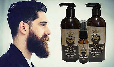 By My Barbe Shampooing+Après-shampooing + Huile,Lot,Doux Propre Soyeux Cheveux