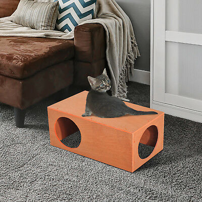 Pawhut MDF Cat House Pet Kitty Home Rabbit Cage Play Waterproof Shelter Hide