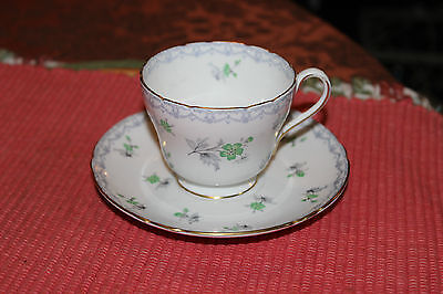 "Shelley England Fine Bone China Teacup & Saucer-""Charm"" Design-Lovely Flowers"