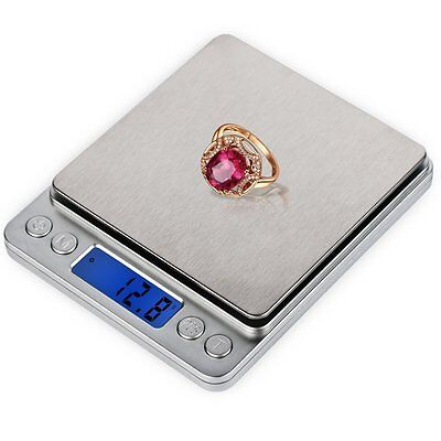 Digital Multifunction Food Kitchen Jewelry Scale 3000g Silver Stainless Steel