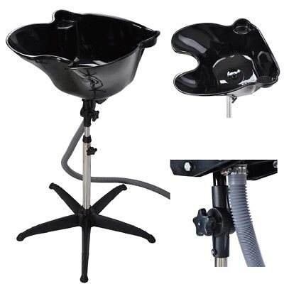 Portable Height Black Adjustable Shampoo Basin Hair Bowl Salon Treatment Tool