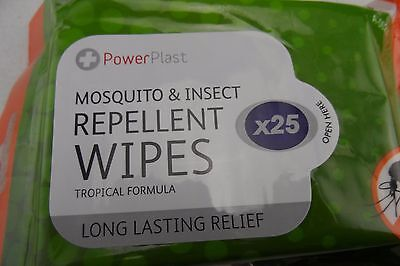 Anti mosquito and  insect repellent wipes 25 PCS -  Quality Made - Free Shipping