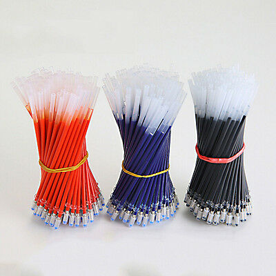 20Pcs Neutral Gel Ink Pen Refill Black Blue Red 0.5mm Office School Stationary
