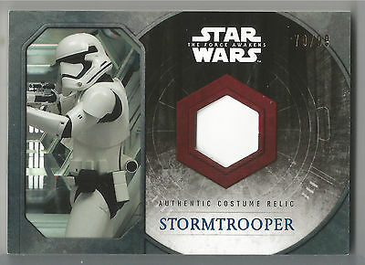 2015 Topps Star Wars Force Awakens Stormtrooper Thigh Piece Costume Relic #/99