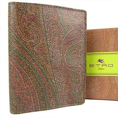 Auth ETRO Logos Paisley Pattern PVC Credit Pass Card Holder Case 18555eSaM