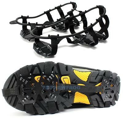 24-Stud Universal No Slip Ice Snow Shoe Spikes Grips Gripper Cleats Crampons M/L
