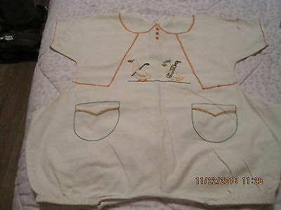 Vintage Embroidered Baby Romper!   Great For Doll Display!