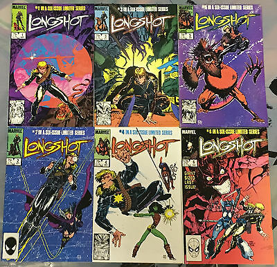 Longshot #1 to #6 1985 VF/NM Full Run - 1st Appearance Longshot, Spiral, Mojo