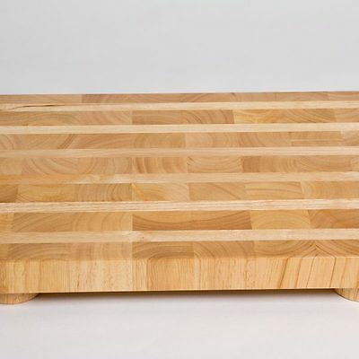 Large Wood Butcher Block with Feet