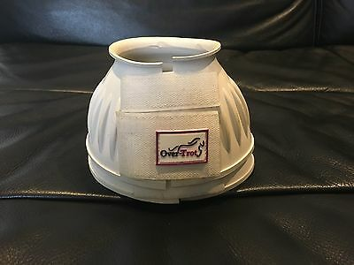DISPLAY MODEL - Over-Trot White rubber bell boots - Small size