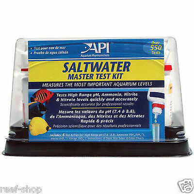 API Saltwater Master Test Kit Aquarium Pharmaceuticals Liquid Test FREE USA SHIP