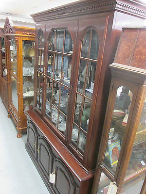 52608 Cherry 2 Piece Breakfront China cabinet Curio