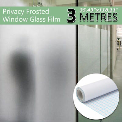 "36"" x 10 FT Frosted Privacy Home Decoration Window Door Glass Tint Film PVC"