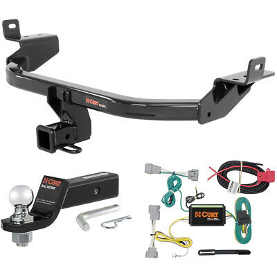 """CURT Class 3 Trailer Hitch Tow Package with 2"""" Ball for 2014-2016 Jeep Cherokee"""