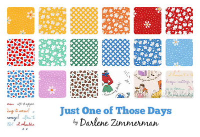 Patchwork/quilting Fabric  Charm Squares/packs - Just One Of Those Days