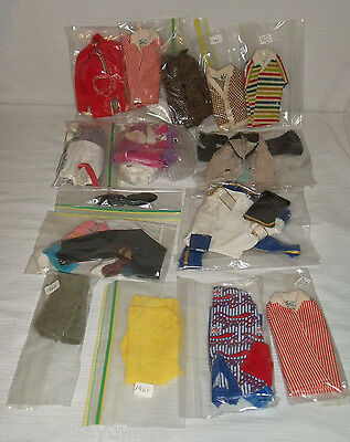Mattel Ken Doll Case 1962 + Vintage 1960s Clothes Lot