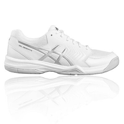 Asics Gel Dedicate 5 Mens White Tennis Sports Shoes Trainers Pumps Sneakers