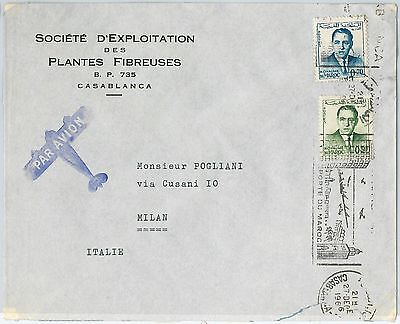 59290 -    MOROCCO - POSTAL HISTORY: COVER to ITALY - 1966