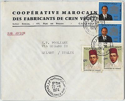 59293 -    MOROCCO - POSTAL HISTORY: COVER to ITALY - 1974