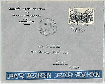 59296 -    MOROCCO - POSTAL HISTORY: COVER to ITALY