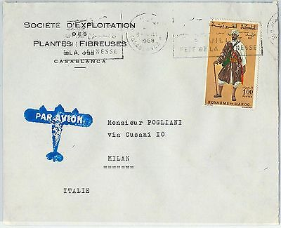 59299 -    MOROCCO - POSTAL HISTORY: COVER to ITALY - 1968