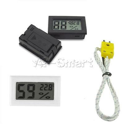 Digital LCD Thermometer Hygrometer Humidity Indoor Temperature Meter KType Probe
