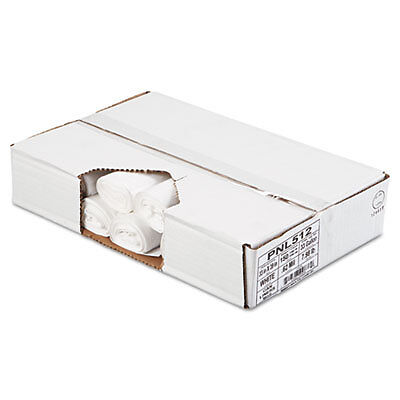 Linear Low Density Can Liners, 33 x 39, White, 150/Carton 512