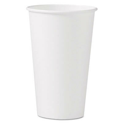 Polycoated Hot Paper Cups, 16 oz, White 316W