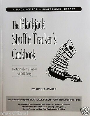 The Blackjack Shuffle Tracker's Cookbook by Arnold Snyder (2003, Paperback) new