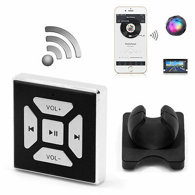 Wireless Bluetooth Audio Steering Wheel Media Remote Control Button For iPhone