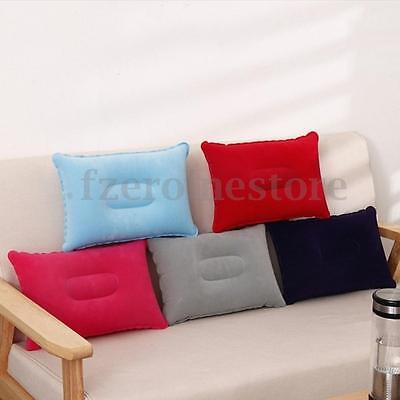 Double Side Pillow Inflatable Soft Blow up Fabric Sleep Cushion Camping Travel