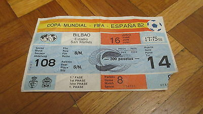 TICKET 1982 WORD CUP GAME 8 England v France
