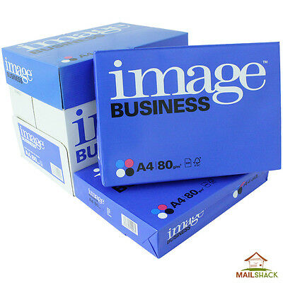 Image Business A4 White Paper 80gsm Printer Copier Sheets 1 2 3 4 5 Reams Of 500