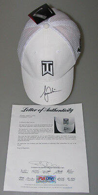 TIGER WOODS Hand Signed Golf Cap Hat + PSA DNA COA  ** BUY Genuine Tiger **