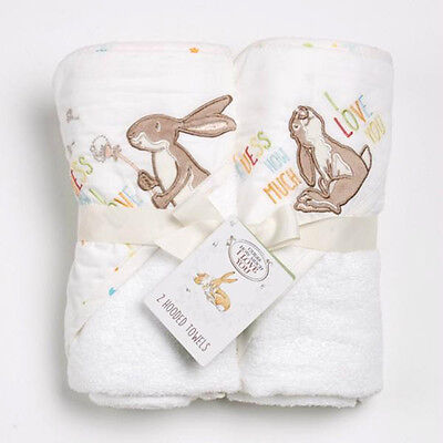 Guess How Much I Love You Baby Hooded Towel Cuddle Robe Twin Pack GHMILY