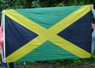 NEW 5 x 3 FOOT JAMAICA JAMAICAN FLAG