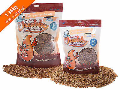 1.36Kg Chubby Dried Mealworms for Birds Reptiles Poultry Sugar Gliders Fish 3lb