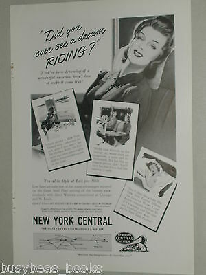 1941 New York Central RR ad, NYC, dream girl
