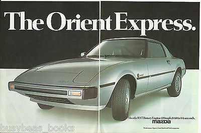 1979 MAZDA RX-7 2-page advertisement, plus road test article, British magazine